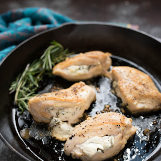 Goat Cheese and Herb Stuffed Chicken Breasts.