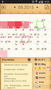 Menstruační Kalendář - náhled