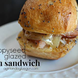 Poppyseed Glazed ham sandwiches .