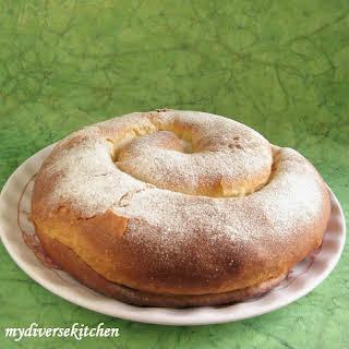 Majorcan (or Mallorcan) Ensaimada (A Sweet Bread).
