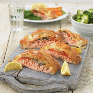 Salmon Fillet Wrapped in Puff Pastry