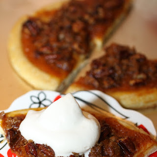 Pecan Pumpkin Pie Dessert Pizza with Maple Whipped Cream