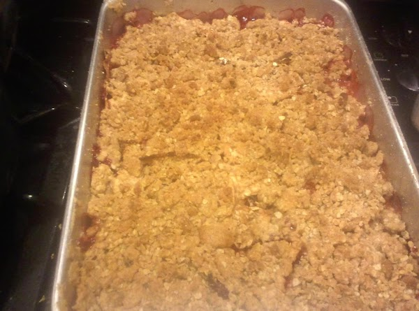 Place in preheated 375 degree oven and bake for 1 hour, until top is...