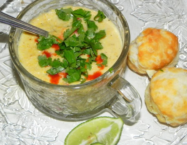 Stir in bell pepper,  serve hot or warm with hot sauce, cilantro and...