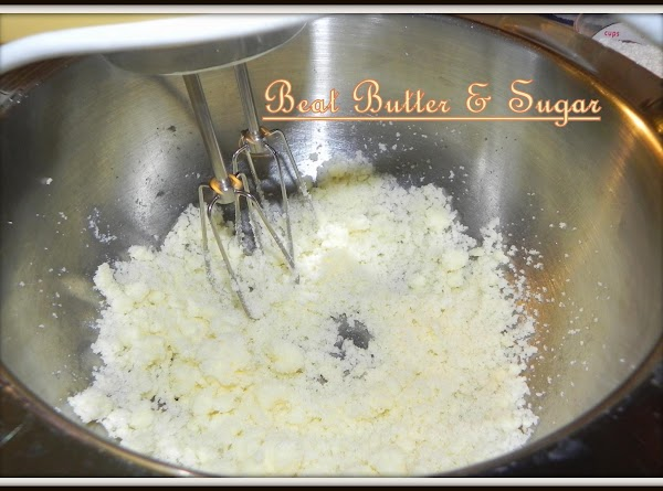 Preheat oven to 350 degrees F. Beat margarine and sugar until light and fluffy.