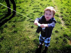 Photo: Finn Flys a Kite