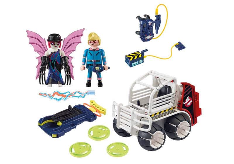 Contenido real de Playmobil® 9386 Spengler con Coche