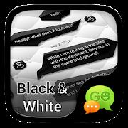 (FREE)GO SMS BLACK&WHITE THEME 3.3.1 Icon