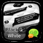 (FREE)GO SMS BLACK&WHITE THEME 1.1.1 Apk