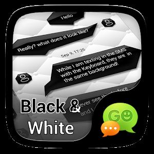 (FREE)GO SMS BLACK&WHITE THEME