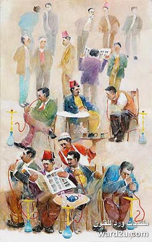 لوحات الفنان اللبنانى Hassan Jouni