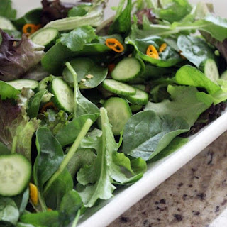 Spicy Salmon Salad with Cilantro Vinaigrette