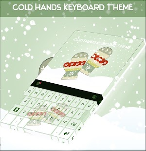 Cold Hands Keyboard Theme - náhled