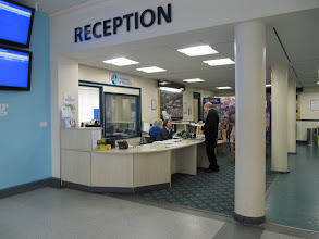 Photo: Reception area at entrance to St. John's Campus, University of Worcester