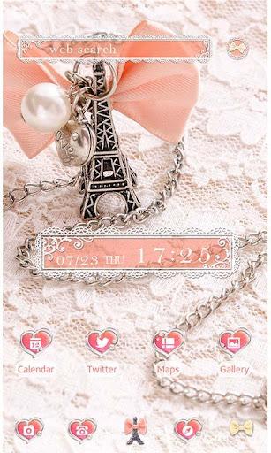 かわいい壁紙・アイコン Girly Eiffel Tower