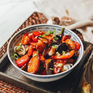 Stir-fried Eggplant, Potatoes & Peppers (Di San Xian - 地三鲜).