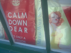 Photo: The 'Calm Down' & .... signs popular with the rustic arts around the UK Country-Set.