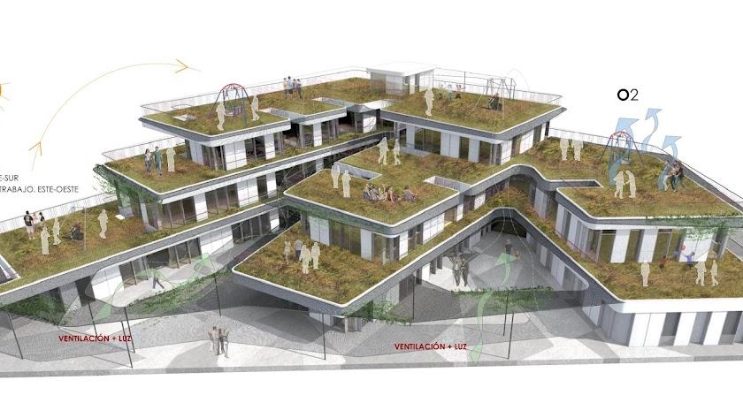 Terrazas Ajardinadas Y Tres Cuerpos Modernos Para El