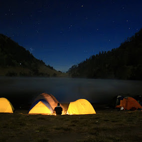One Night in 2400 mdpl by Muchamad Bashir - Landscapes Starscapes ( landscape, nightscapes )