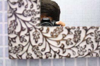 Photo: el espejo del baño y yo