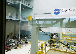 Photo: James Webb Space Telescope components are visible in the High Bay Clean Room at NASA's Goddard Space Flight Center.
