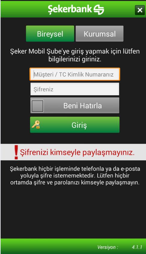 ŞEKER MOBİL ŞUBE - screenshot