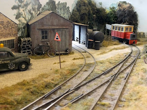 Photo: 006 Another view of Howard Martin's attractive 016.5 demo layout with a rare shot of the Avalon Lines railcar in focus – it is normally travelling so fast that I completely fail to get an unblurred shot! .