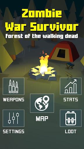 Zombie War Survivor : Forest of the Walking Dead screenshot 1