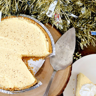 Easy No Bake Eggnog Cheesecake