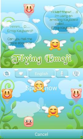 Flying Emoji GO Keyboard Theme 3.87 screenshot 662629