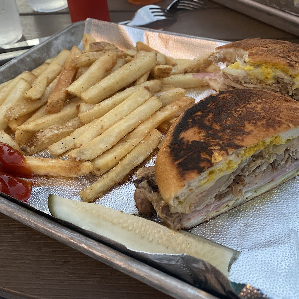 Rueben with gfree roll and gfree fries!!!  DELICIOUS!