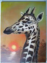Photo: Elegant Giraffe. Oil on canvas. 18 x 24, $399.00