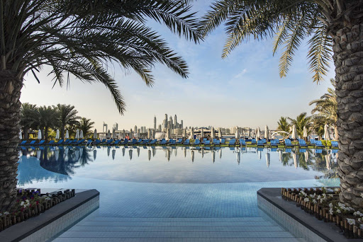 Dubai-Palm-pool.jpg - The luxurious pool at the Palm Dubai.