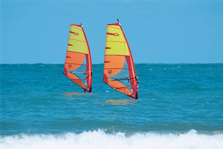 Windsurfing in the Dominican Republic.