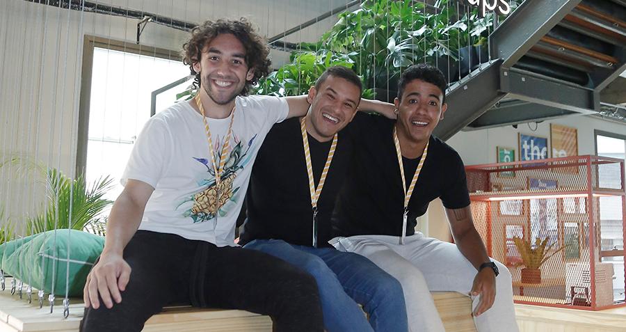 Eduardo, Felipe e Leonardo, fundadores da Luna