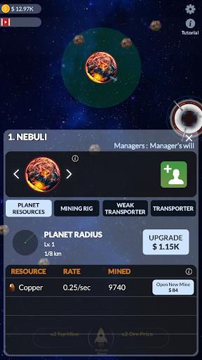 Idle Galactic Miner  captures d'écran 2