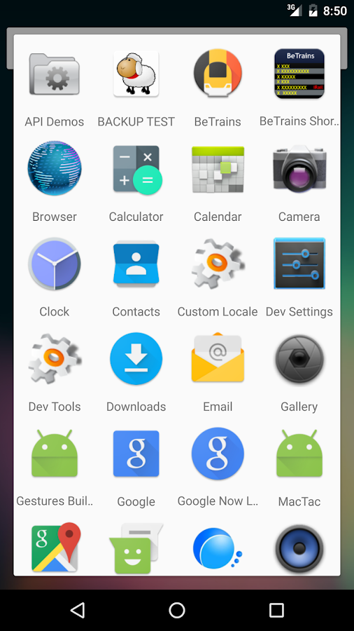 App Drawer- screenshot
