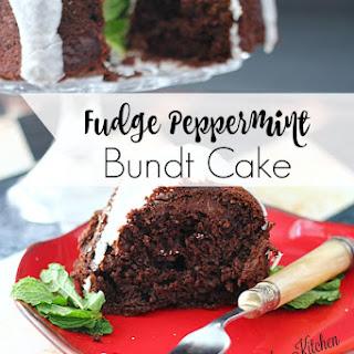 Fudge Peppermint Bundt Cake
