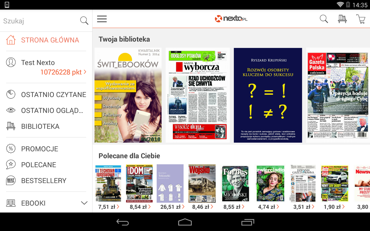 Nexto Reader- screenshot