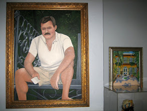 Photo: A portrait of Hemingway in his house in Keywest