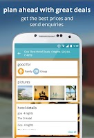 Screenshot of indian rail train info hotels