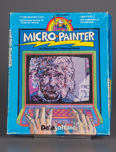 Video game   coloring book:Apple II Bob Bishop\'s Micro Painter: An ...