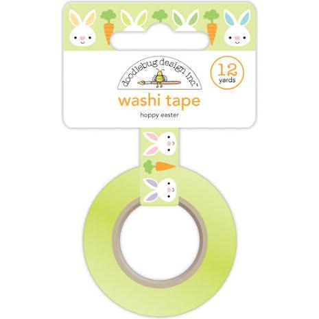 Doodlebug Washi Tape 15mmx12yd - Hoppy Easter