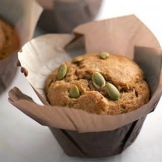 Chai Tea Muffins with Pumpkin Seeds.