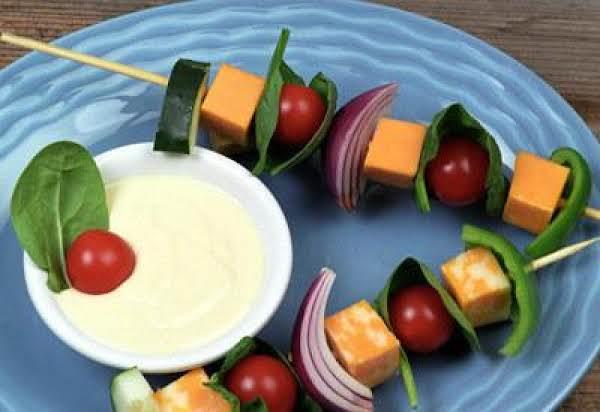 Salad On A Stick W/ Dressings Recipe