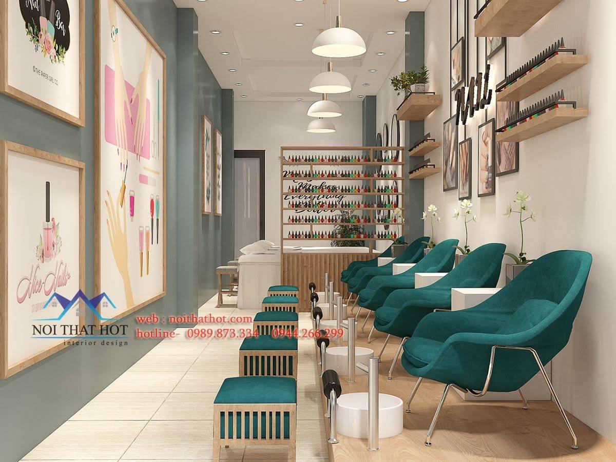 thiết kế cửa hàng nail 1