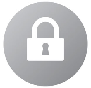 Google Drive data encryption lock symbol