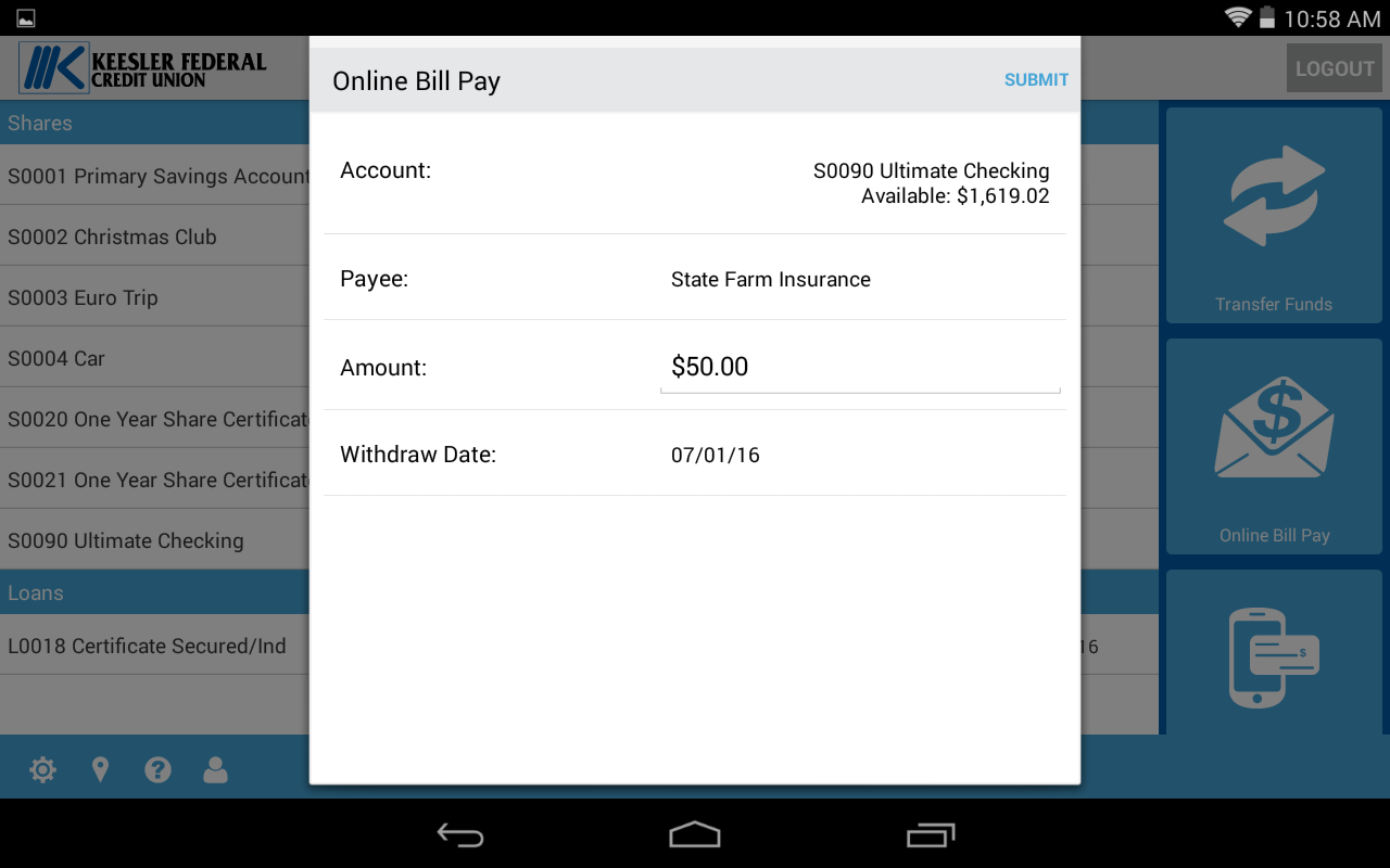 Keesler Federal Mobile Banking- screenshot