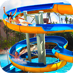 Water Slide Adventure Park 3D Icon