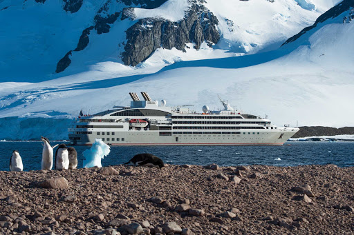 See the wonders of Antarctica on Ponant's Le Lyrial. Here's Bongrain Point on Pourquoi Pas Island.